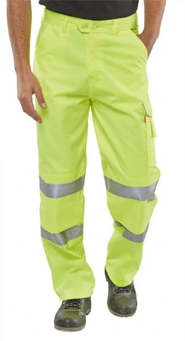 B Seen Hi Vis Polycotton Work Trousers